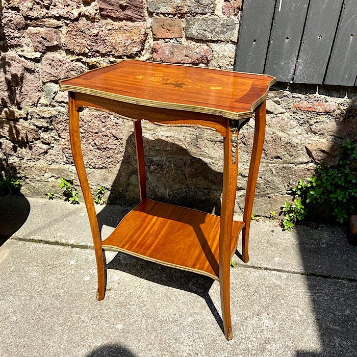 Antique Inlaid Occasional Table