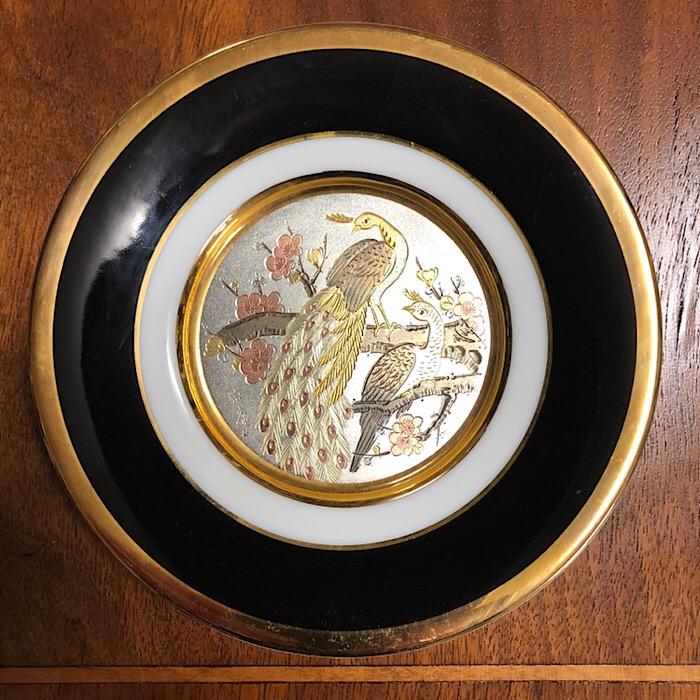 Art of Chokin 24k Gold Edged Plate