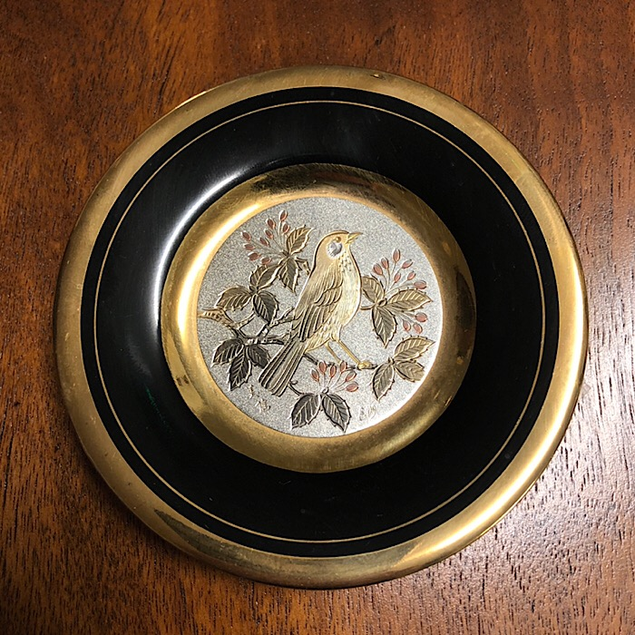 Art of Chokin Small Gilt Plate