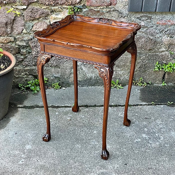 Chippendale Revival Mahogany Silver Table