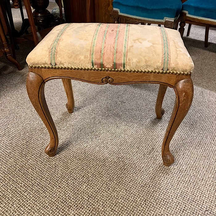 Continental Style Upholstered Foot Stool