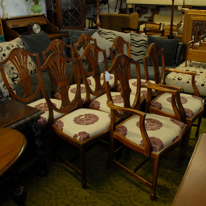 Set Of 8 Hepplewhite Style Dining Chairs | Treasure Trove, Antique Shop,  Castlebridge, Wexford | Antiques, Vintage U0026 Used Furniture | Collectibles