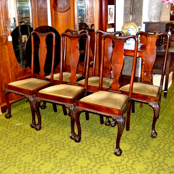 Set Of 6 Antique Dining Chairs | Treasure Trove, Antique Shop,  Castlebridge, Wexford | Antiques, Vintage U0026 Used Furniture | Collectibles