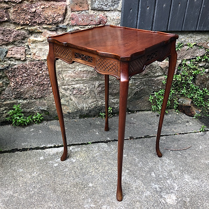 Edwardian Chippendale Revival Mahogany Occasional Table