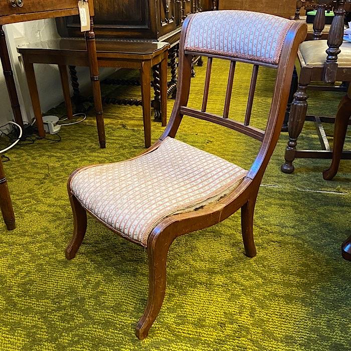Edwardian Inlaid Mahogany Nursing Chair