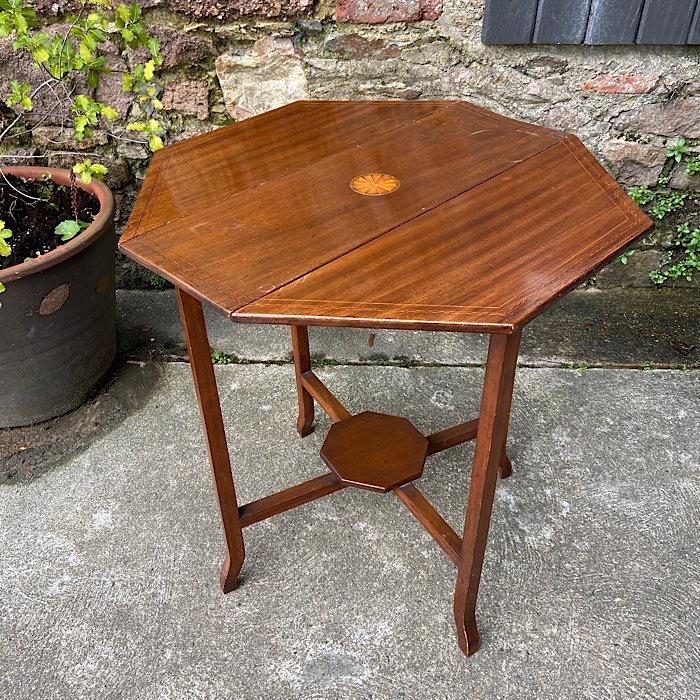 Edwardian Inlaid Mahogany Occasional Table