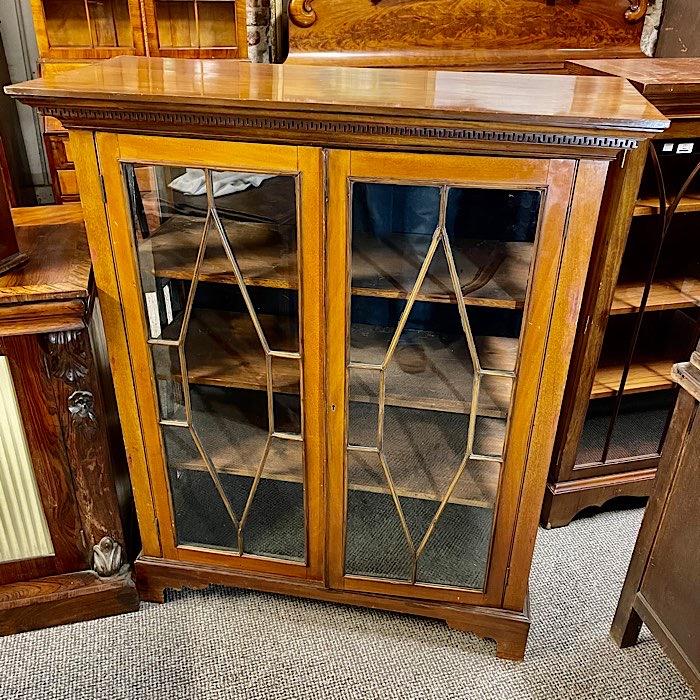 Edwardian Mahogany Astragal Glazed Two Door Bookcase
