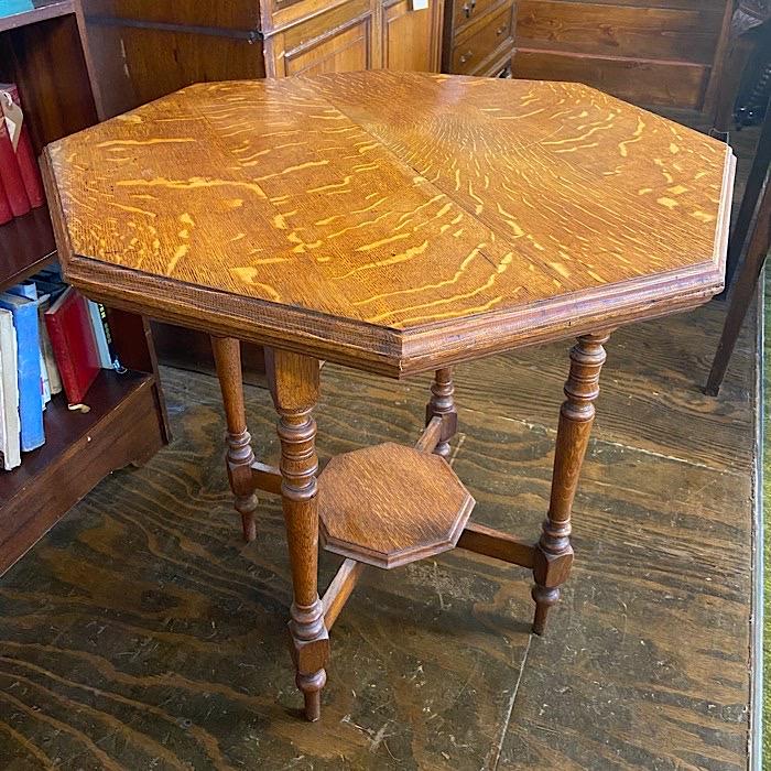 Edwardian Oak Octagonal Centre Table