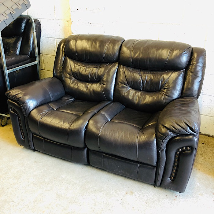 Electric Reclining Leather Two Seater Sofa Treasure Trove Antique