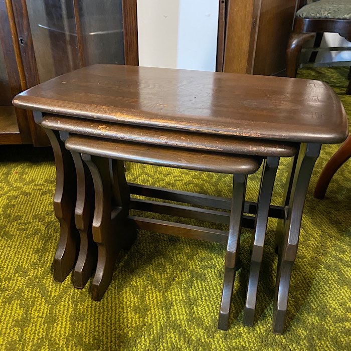 Ercol Dark Oak Nest Of Tables