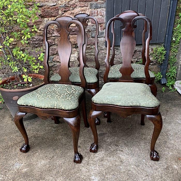 Four Georgian Style Mahogany Dining Chairs