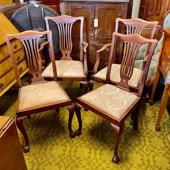 Four Mahogany Queen Anne Style Chairs