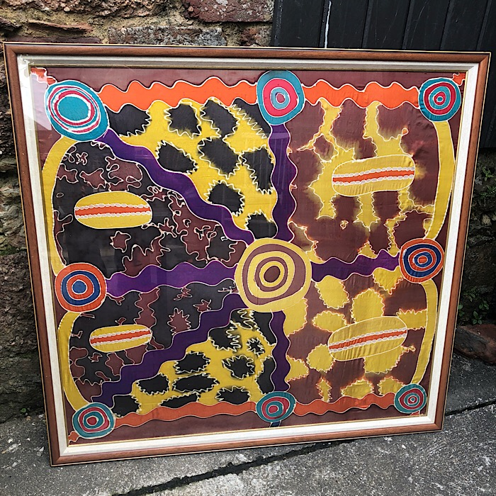 Framed Hand Painted Silk Scarf