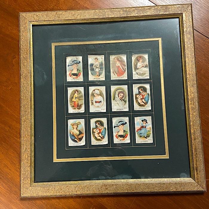 Framed Vintage Cigarette Silks