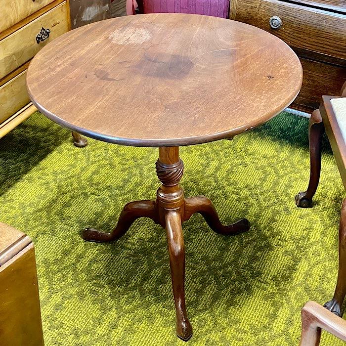 Georgian Mahogany Circular Tilt Top Tripod Tea Table