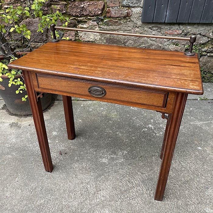 Georgian Mahogany Single Drawer Side Table