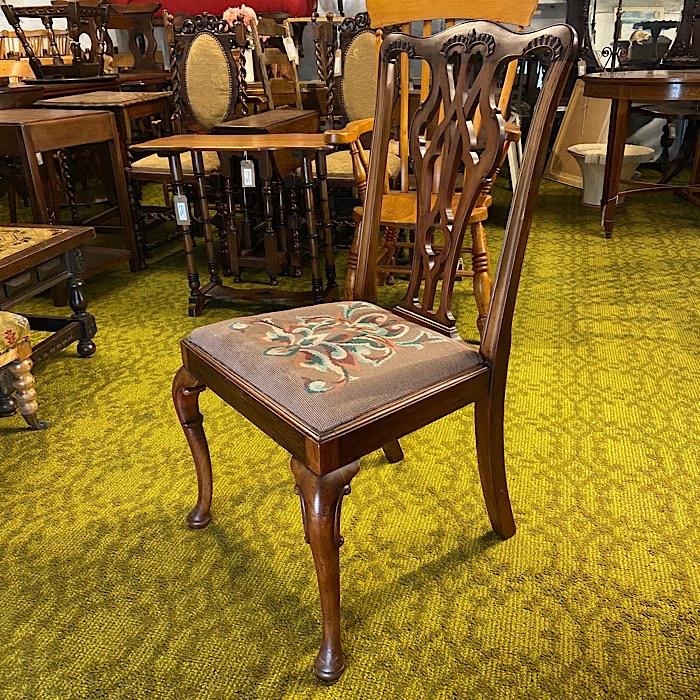 Georgian Needlepoint Dining Chair