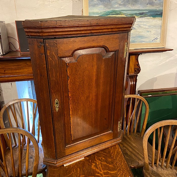 Georgian Oak Hanging Corner Cupboard