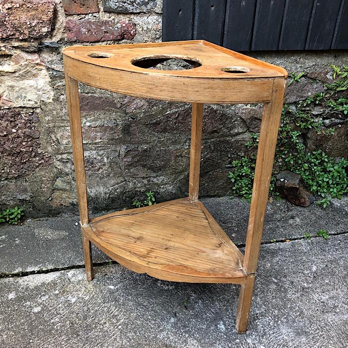 Georgian Pine Corner Washstand