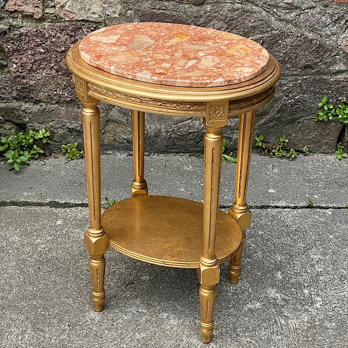 Gilt Marble Topped Occasinal Table