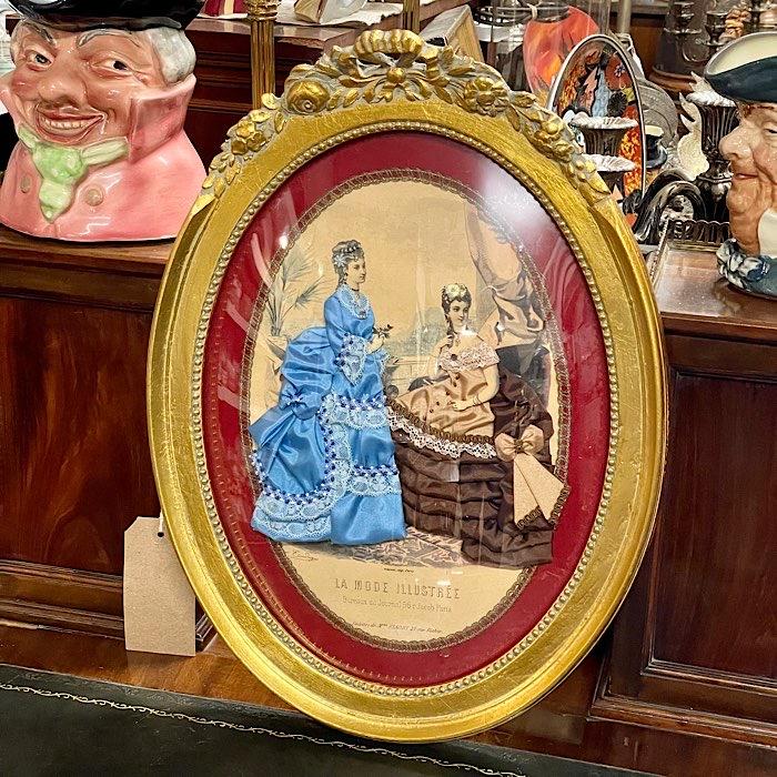 Gilt Oval Framed Ladies Salesman Sampler