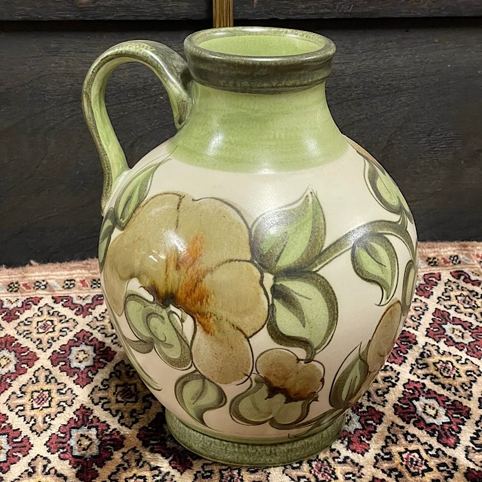 Green Langley Pottery Handled Vase