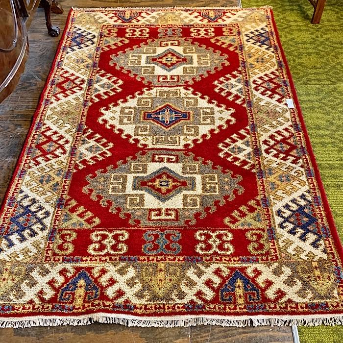 Handmade Indo-Kazak Rug