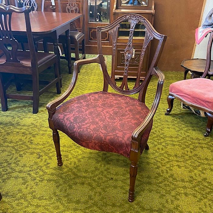 Hepplewhite Revival Mahogany Elbow Chair
