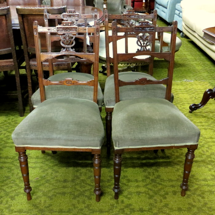 Edwardian Carved Salon Chairs