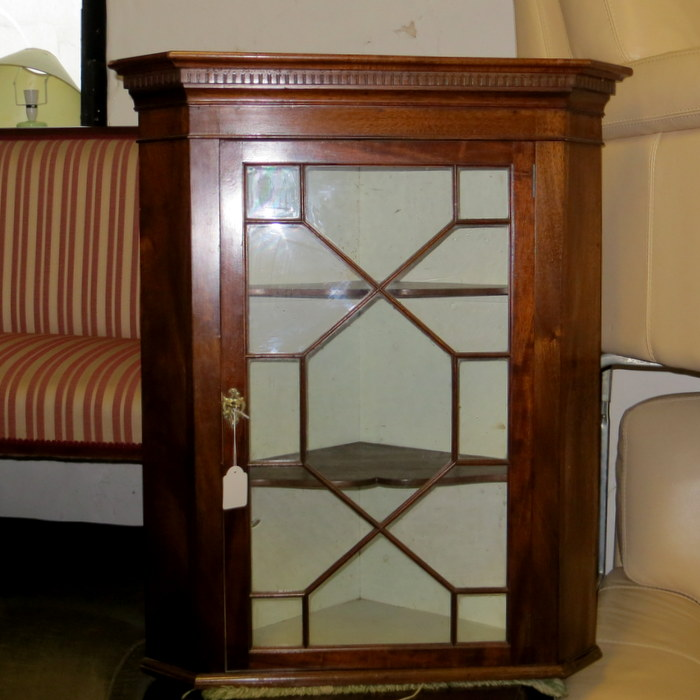 Mahogany Hanging Cabinet Glass