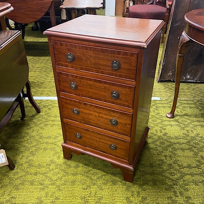 Inlaid Mahogany Small Chest Of Drawers