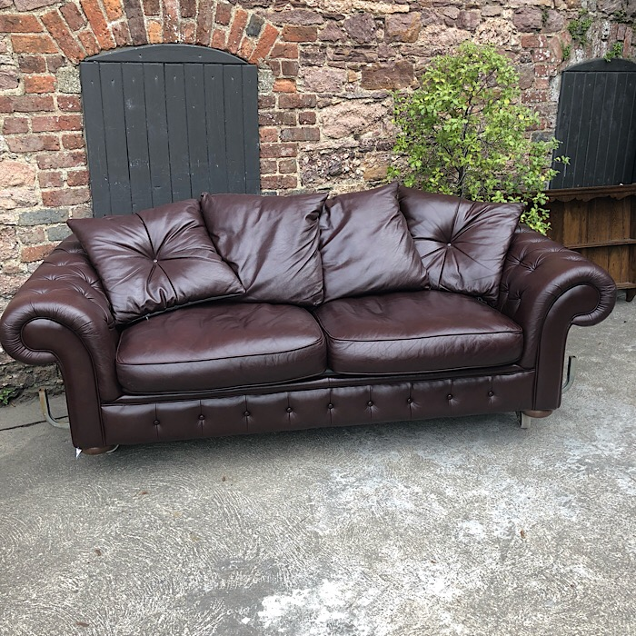 Large Leather Chesterfield Style Sofa Bed Treasure Trove Antique