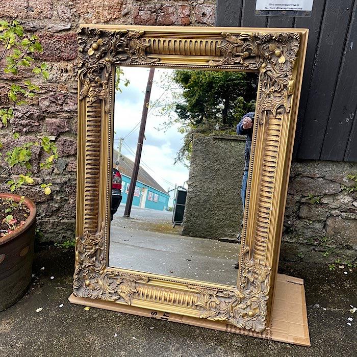 Large Ornate Gilt Framed Mirror