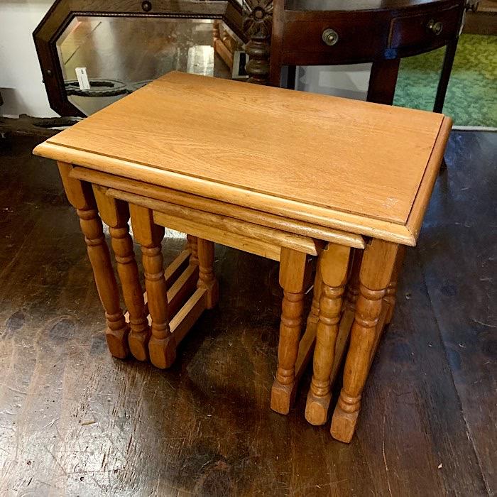 Light Oak Nest Of Tables
