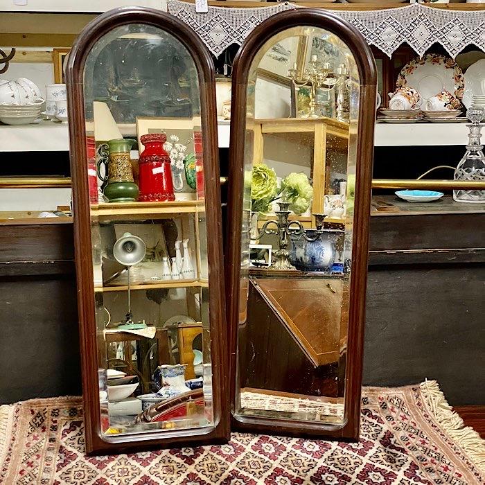 Mahogany Arch Top Bevelled Mirrors