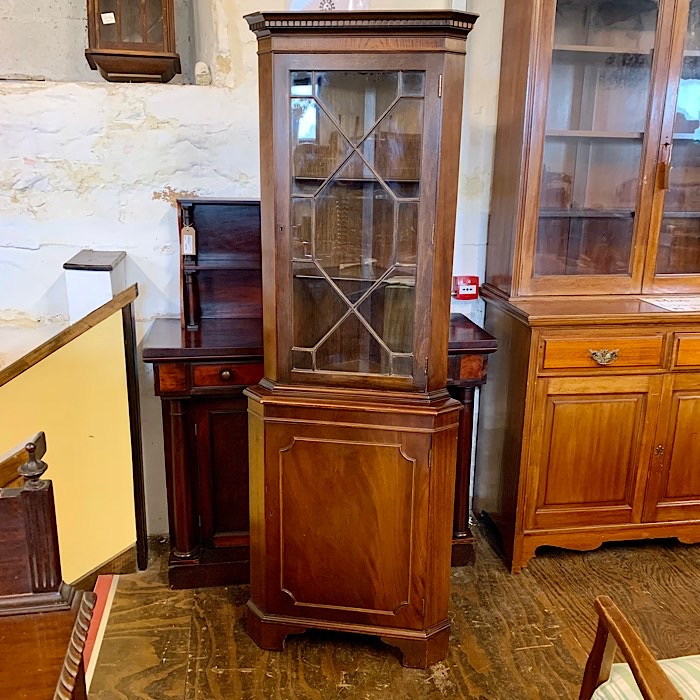 Mahogany Freestanding Corner Cabinet