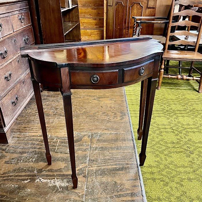 Mahogany Two Drawer Hall Table