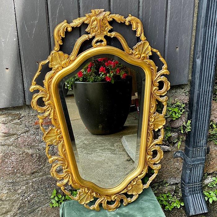 Ornate Gilt & Bevelled Mirror