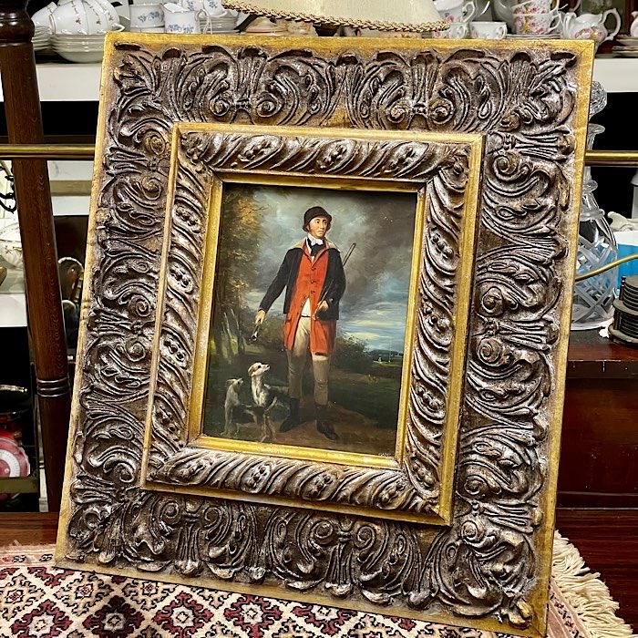 Ornate Gilt Framed Oil on Board