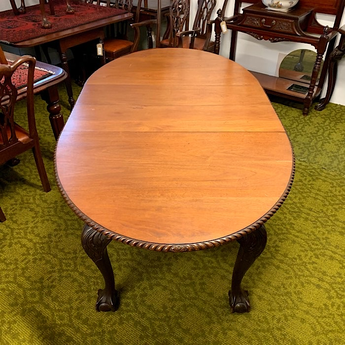 Oval Mahogany Extending Dining Table