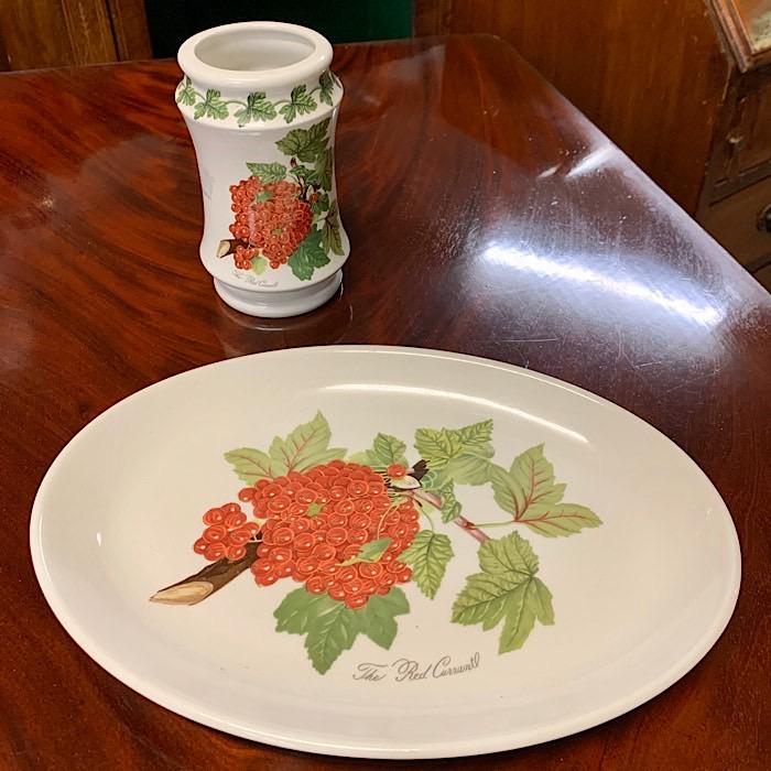 Oval Plate & Jar