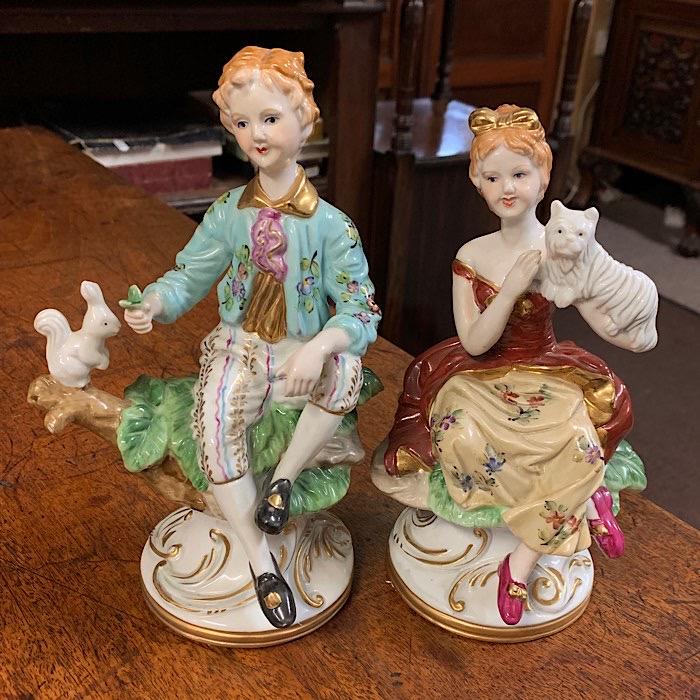 Pair Meissen Figurines
