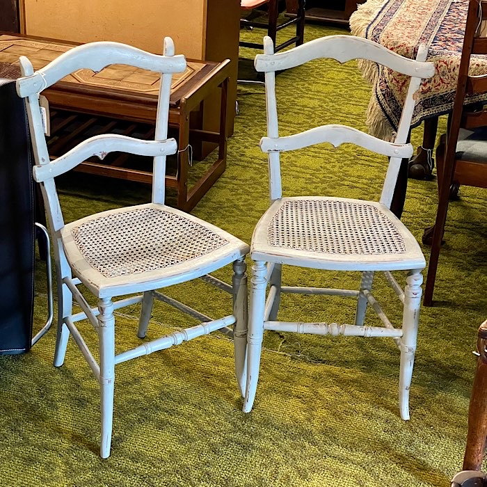Pair of Painted Bedroom Chairs