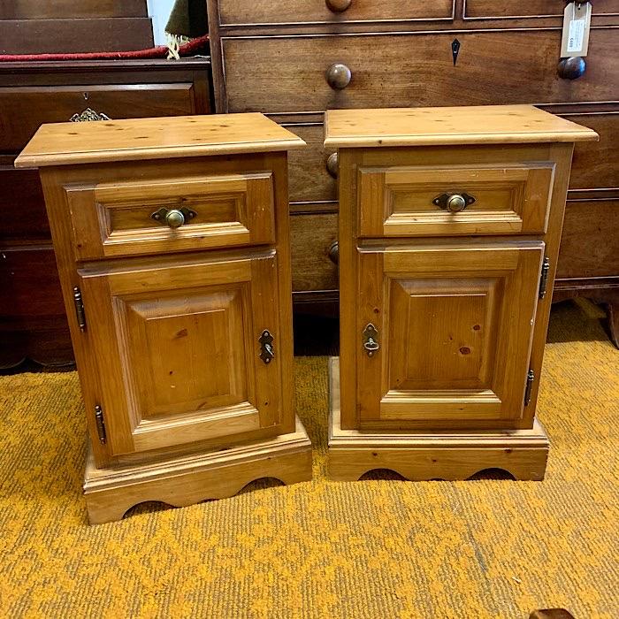 Pair Of Rustic Pine Lockers