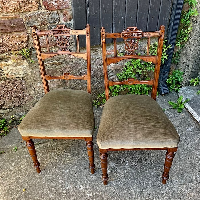 Pair of Victorian Salon Chairs