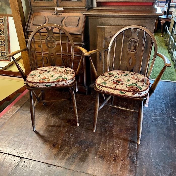 Pair of Vintage Ercol Golden Dawn Chairs
