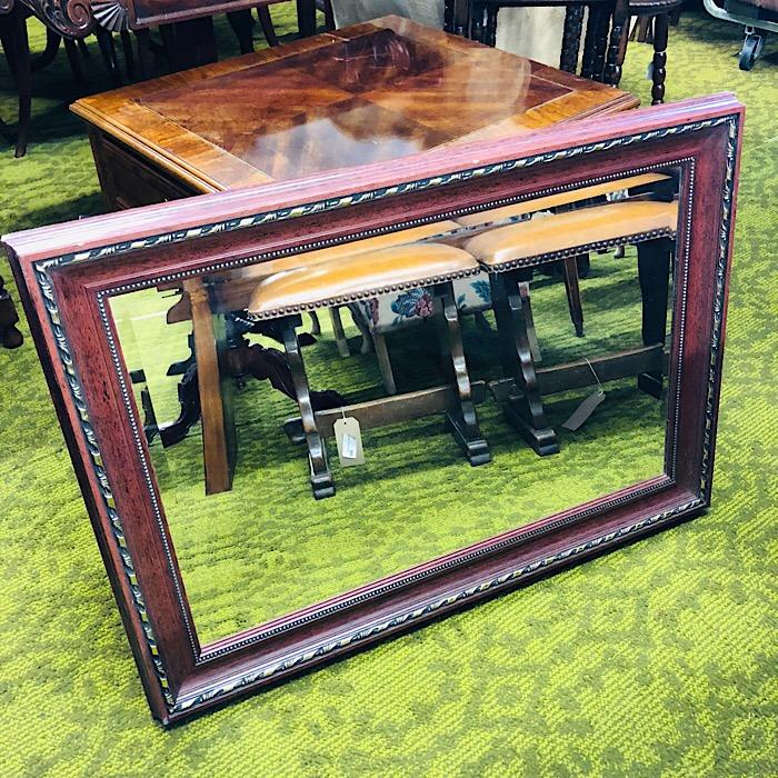 Part Gilt Framed Bevelled Mirror