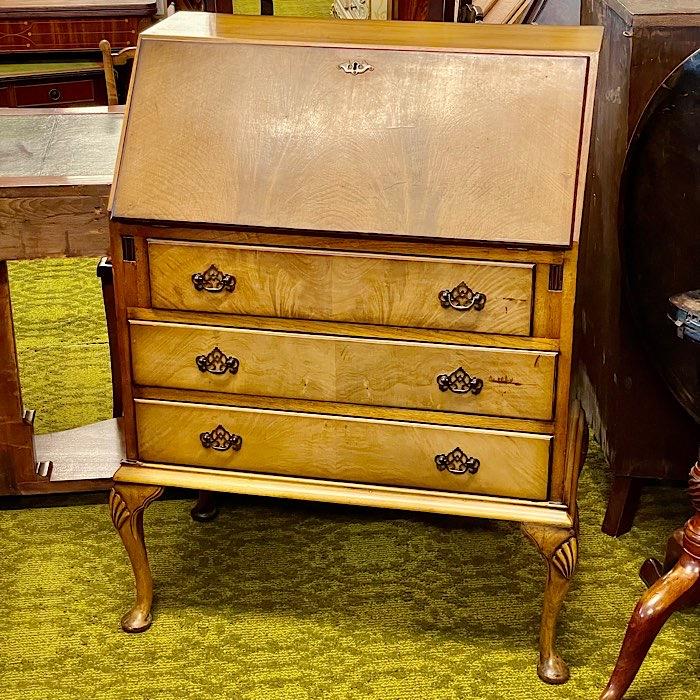Queen Anne Style Mahogany Bureau