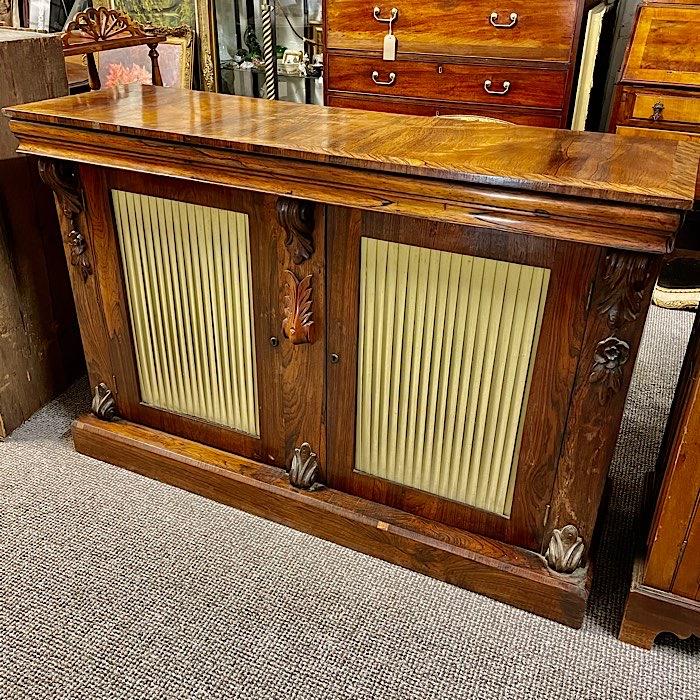 Regency Rosewood Two Door Side Cabinet