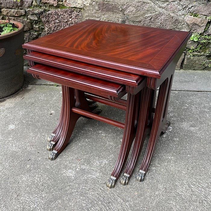 Regency Style Mahogany Nest Of Tables